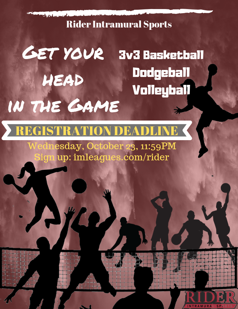 Flyer for Intramural Sports 2