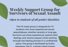Support Group for Survivors of Sexual Assault-Spring 2020
