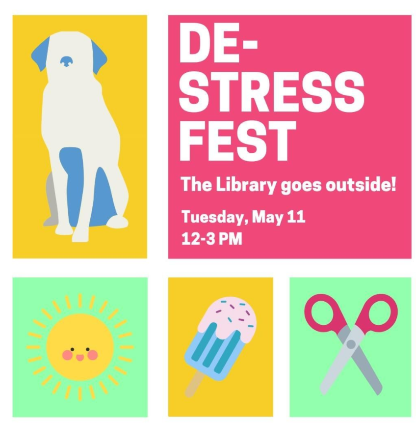 Image of DeStress Fest Flyer-details available as text in post