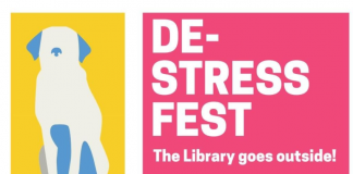 Flyer for DeStress Fest-information available as text in post.