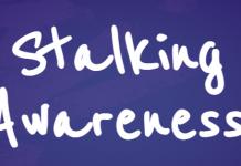 Image that reads Stalking Awareness