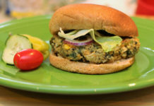 Beans and greens burgers