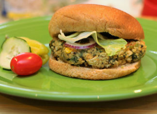 UCookbook: White beans and greens burger