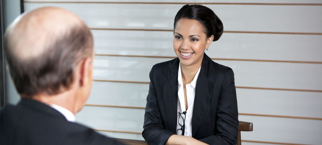 Girl in interview