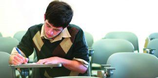 Boy in class
