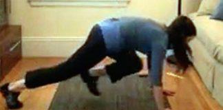 Tiffany exercising