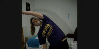 Caitlyn stretching