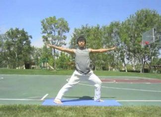 Shuai showing warrior pose