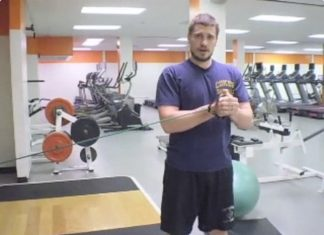 Nick exercising