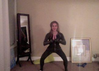 Eliza exercising