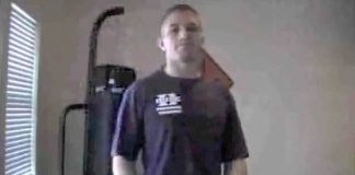 Mike exercising