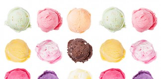 Portioned ice cream scoops