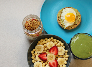 A healthy display of breakfast foods