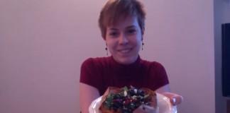 Sweet potato, and Greek salad topping