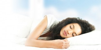 Young woman asleep looking peaceful