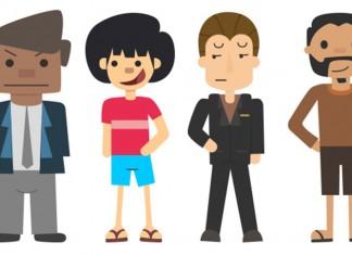 3 Cartoon family members